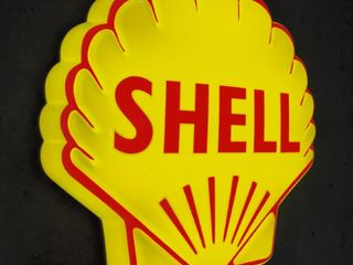 Shell back lit sign  21x21in