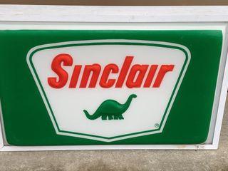 Sinclair lED light up sign  24x37