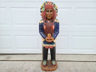 Hand carved wooden Indian