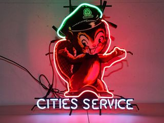Cities service tin neon sign  24in
