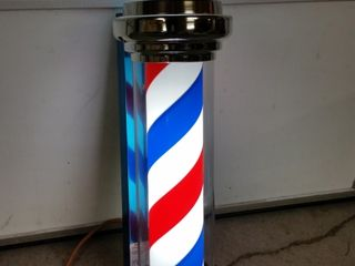 Barber Pole   lights and spins  32in