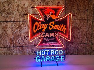Hot Rod Garage tin neon sign  30 in