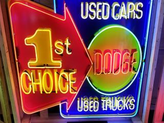 Dodge 1st choice tin neon sign  with flasher  48x4
