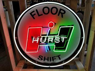 Hurst tin neon sign  36in