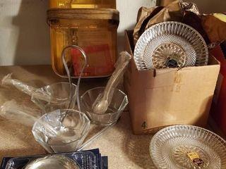 Hot Basket and serving plate set