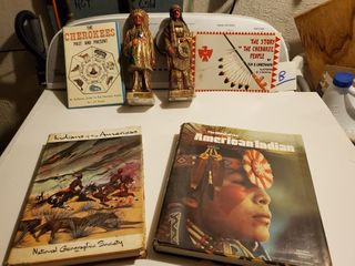 Indian figurines and Indian Books