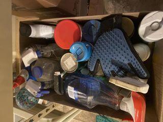 Various indoor  outdoor cleaning supplies