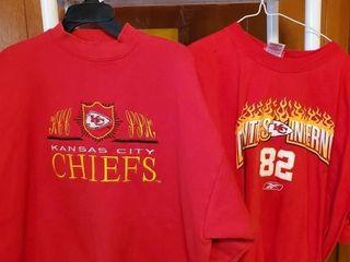 Chief s sweatshirt and tee shirt Kc chiefs