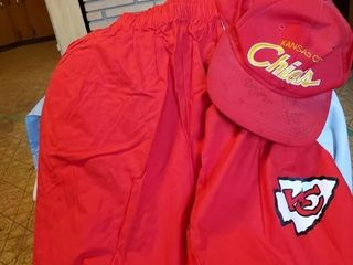 KC Chiefs signed Hat 1 pair if KC shorts   i