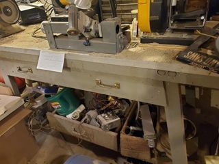 5  x 2 x 34  workbench with 1 drawer