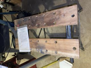 Wood with Metal legs Work Station