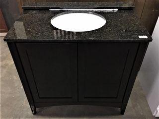 36  Bath Vanity w granite top sink and backsplash