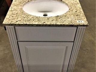24  Bath Vanity w granite top sink and backsplash