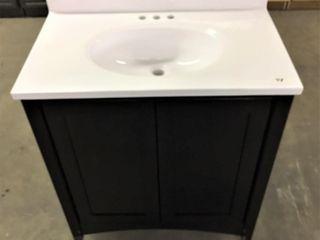 30  Bath Vanity w combo sinktop backsplash