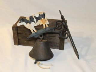 Cast iron wall mount dinner bell