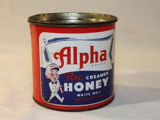 Alpha honey tin