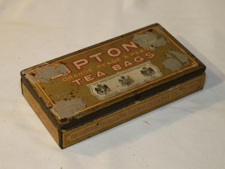 lipton tea bag tin