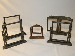 5 vintage wooden swing picture frames