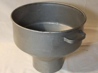 Galvanized milk strainer