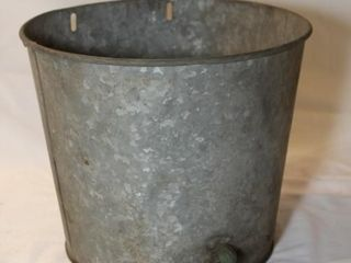 Vintage galvanized bucket with spigot