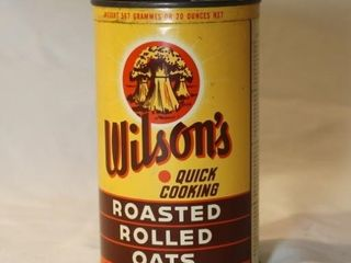 Wilson s Quick Cooking Oats tin