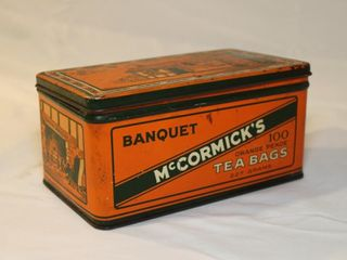 McCormick tea bag tin