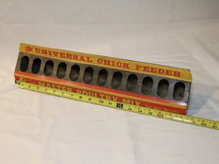 Universal Chick Feeder   metal