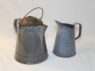 2 graniteware items