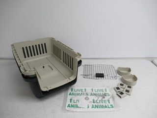 Used  SportPet Designs Plastic Kennels Rolling