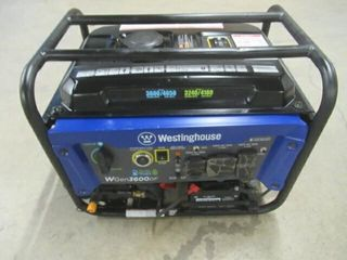 Used  Westinghouse WGen3600DF Dual Fuel  Gas and
