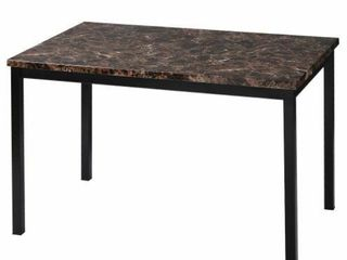 Faux Marble Top Dining Table