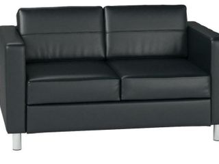 AVE SIX Pacific Vinyl loveseat with Spring Seat