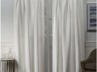 Exclusive Home Curtains Sateen Button Panel Pair