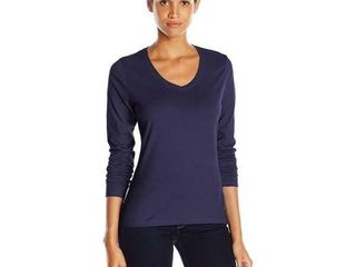 Hanes Women s X large V Neck long Sleeve Tee