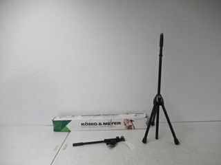 Used  K M Microphone Stands 210 8 BlACK with