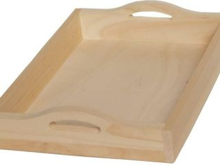 Walnut Hollow Unfinished Wood Serving Tray for