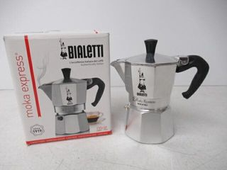Used  Bialetti 6799 Moka Express 3 Cup Stovetop