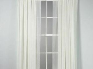 Voile 84 Inch Sheer Rod Pocket Window Curtain