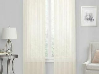 Voile 63 Inch Rod Pocket Window Curtain Panel in