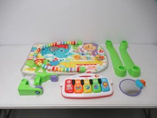 Used  Fisher Price Deluxe Kick  n Play Piano Gym