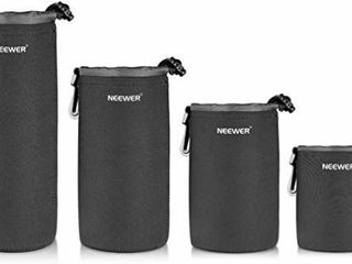 Neewer 4 Pack Protective lens Neoprene Pouch Set