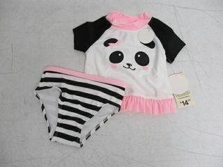 George Baby Girl s 2T 2 Piece Panda Swimsuit
