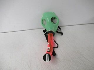 Gas Mask Smoking Device  Green With Pink Tube