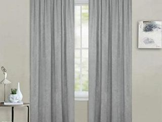 Sheer Curtains for Bedroom 84 inches long Grey
