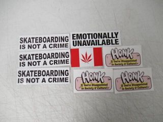 lot Of  8  Stickers