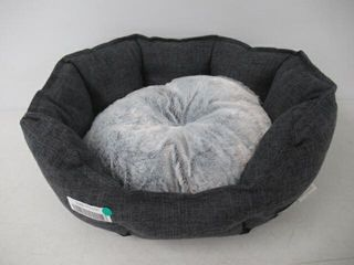 As Is  Cuddler Bolster Round Pet Bed  Small  19 x
