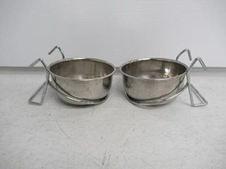Used   2  Bergan Hanging Kennel Cup  1 Cup