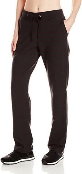 Hanes Women s Small French Terry Pant  Black