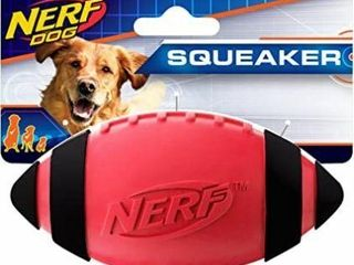 Nerf Dog Rubber Football Dog Toy with Interactive
