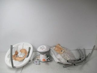 Used  Fisher Price Deluxe Cradle  n Swing  Fawn